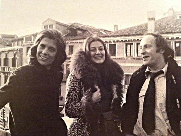 Сюзен Зонтаг, Анни Эпельбойн и Иосиф Бродский в Венеции. 1977