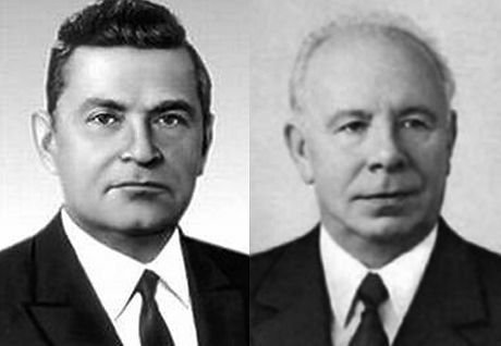 Лидеры братских народов и товарищи по партии - Мазуров и Подгорный