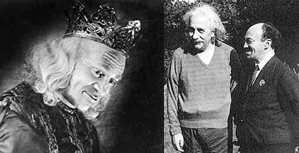 Неповторимый король Лир - Соломон Михоэлс. С Альбертом Эйнштейном в США