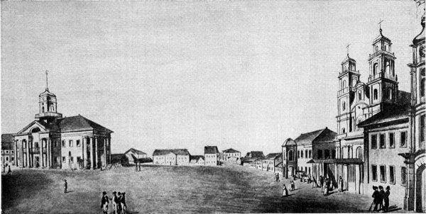 Площадь Высокого рынка. Акварель Пешки