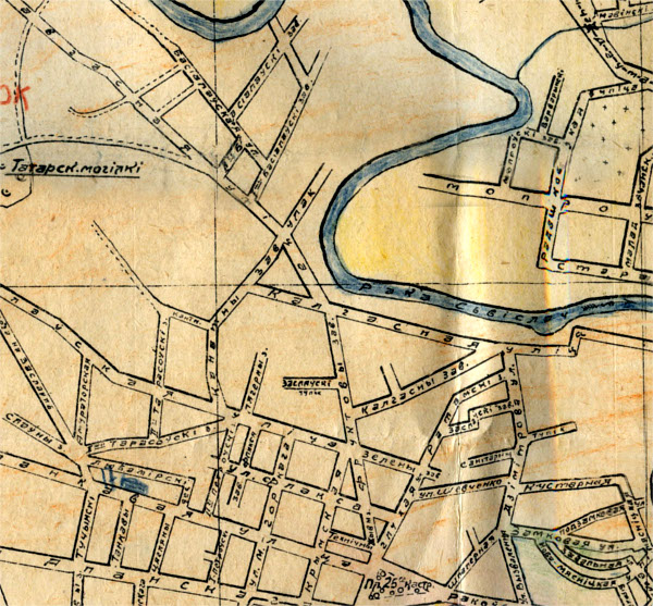Фрагмент карты Минска за 1934 год