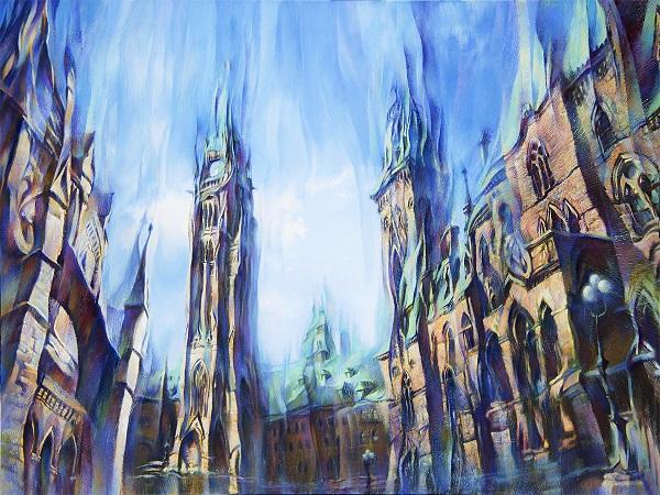 """Прекрасные """"небоскребы"""" Петра Шварцмана, более известные как английский Парламент"""