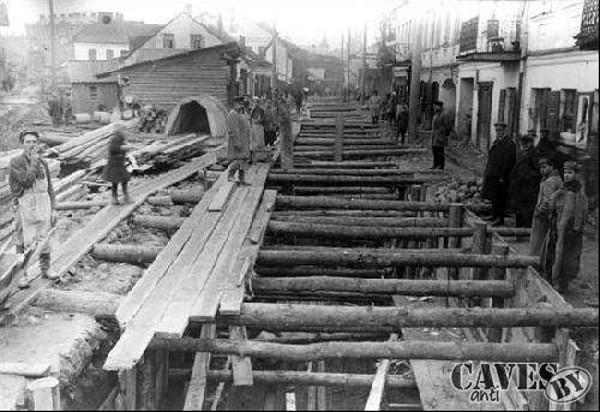Строительство коллектора для Немиги в 1926 году
