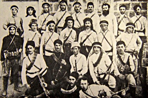 Бойцы одного из первых отрядов самообороны Ха-Шомер