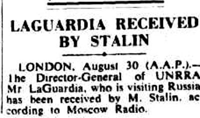 29 августа Ла Гуардиа был принят Сталиным. Фотографий той встречи я не нашел.