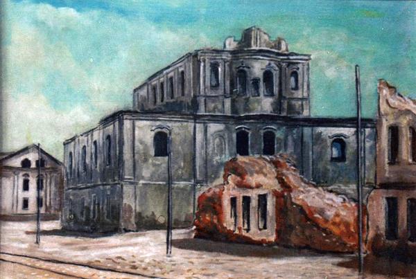 Слева откостела Святого Томаша Аквинского тридцать лет назад располагался двухэтажный дом