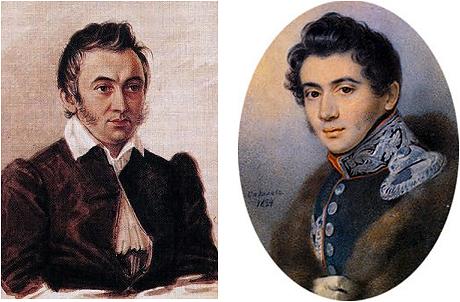 Таким увидели Никиту Муравьева художники Николай Бестужев в 1836 году и году Петр Соколов в 1824 году