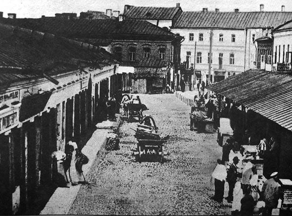 Нижний рынок на Немиге – в самом еврейском районе Минска