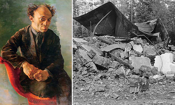 """Следы истории: портрет Михоэлса работы Натана Альтмана и руины """"чекистской"""" дачи"""