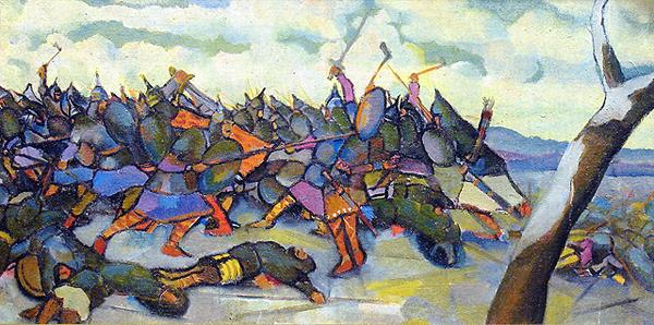 02.Битва на реке Немиге. М. Филиппович, 1922