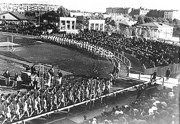На открытии стадиона «Динамо»