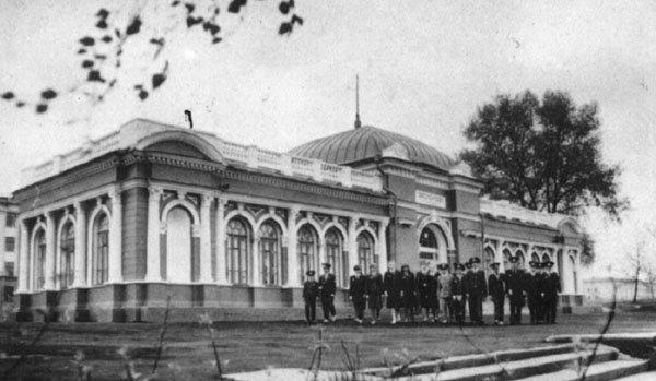 Вокзал Детской железной дороги. 1955 год арх. Г.В.Заборский