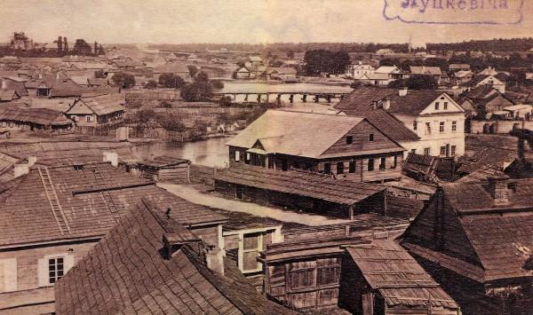 Плебанская плотина в 1860 году