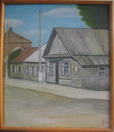 Комаровка. Хозяева этих домов были схвачены фашистами в конце сентября 1943 года