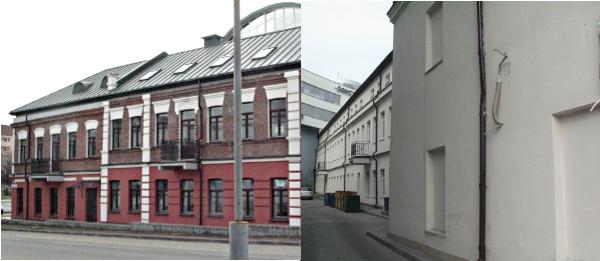 """Сохранившаяся часть дома Лихтермана. Расширение, заметное со двора, - часть свадебного зала """"Париж"""""""