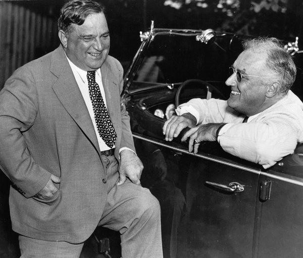 Фьорелло Ла Гуардиа и Франклин Рузвельт.