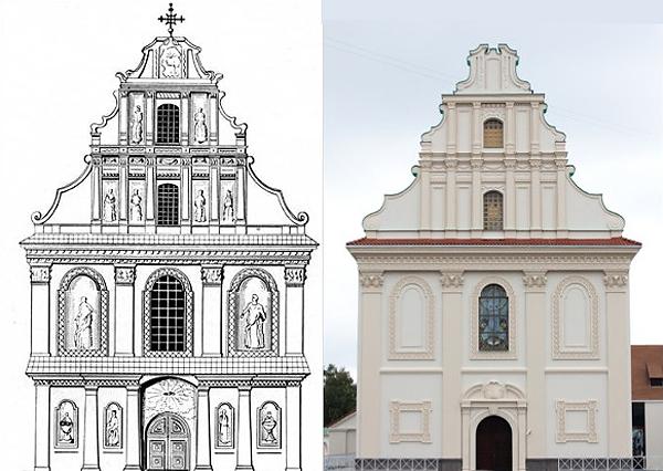Проект перестройки Святодуховской церкви 1799 года и сегодняшний вид концертного зала