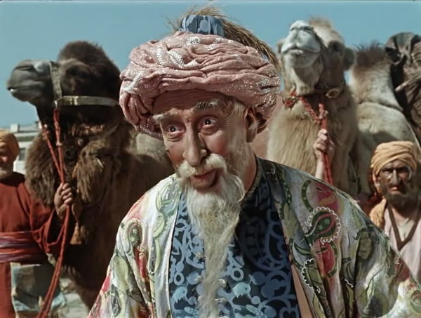 Халат... борода... верблюд... Чисто арабский джинн!